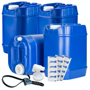 Plastic water canisters