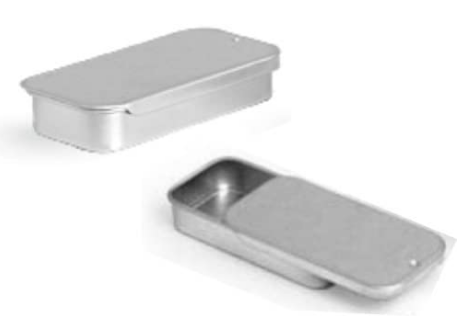 Metal Slide Top Tin Containers