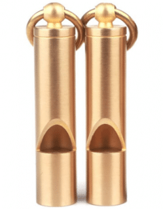 Portable Brass Emergency Whistle
