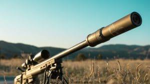Rifle-With-A-Gun-Suppressor
