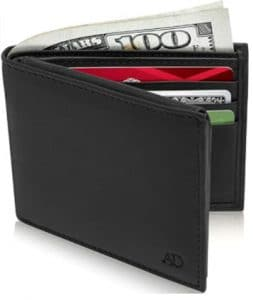 Slim Leather Bifold Wallets For Men