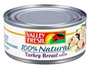 VALLEY FRESH, 100% Natural White Turkey Breast in Water