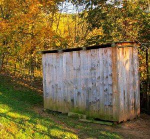 backyard outhouse