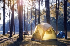 campsite-with-a-dome-tent
