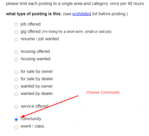 choose Community