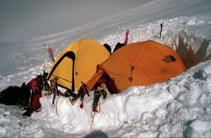 tents in the snow