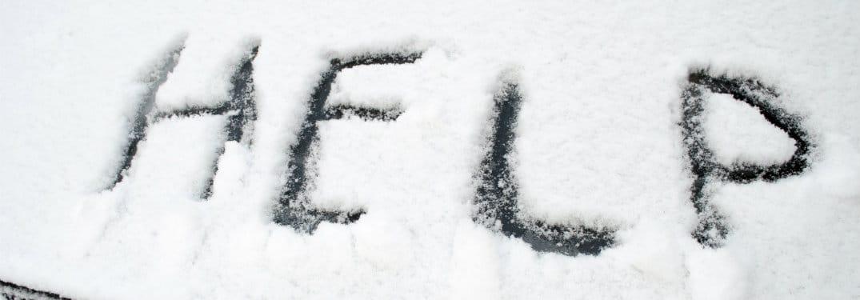 Help-Written-In-Snow