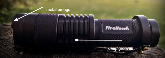 the FireHawk tactical flashlight